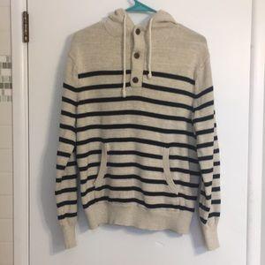 J crew hoodie 3 button sweater